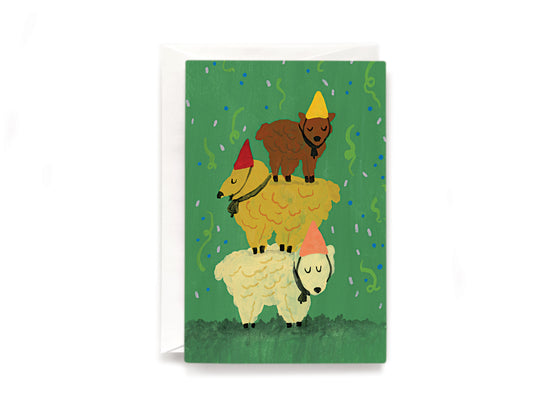 Three sheep card