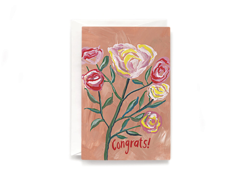 Party Bunch & Co Congrats roses Greeting Card
