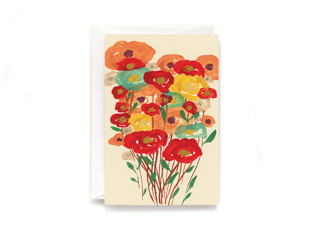 Poppies bunch card