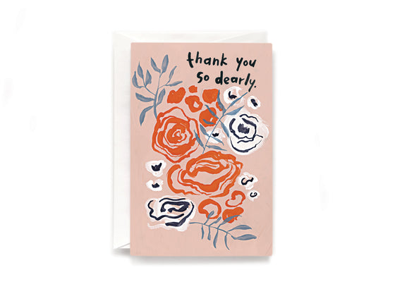 Party Bunch & Co Thank you dearly Greeting Card