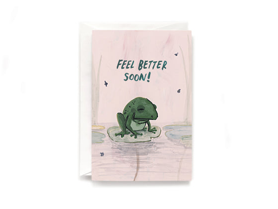Party Bunch & Co Toad feel better Greeting Card