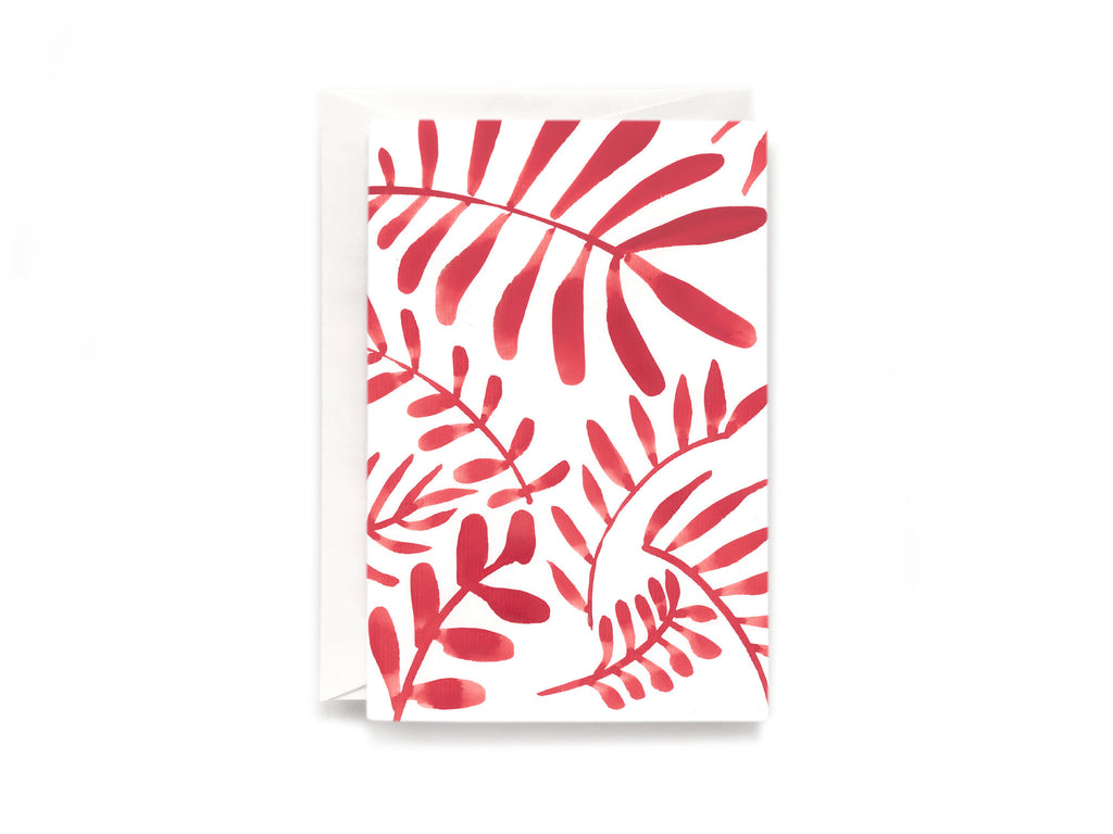 Party Bunch & Co Red leafs Greeting Card