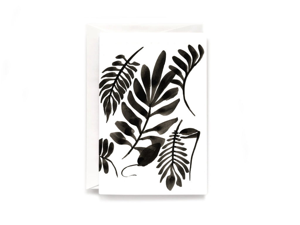 Party Bunch & Co Black leafs Greeting Card