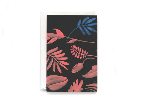 Red shrubs card