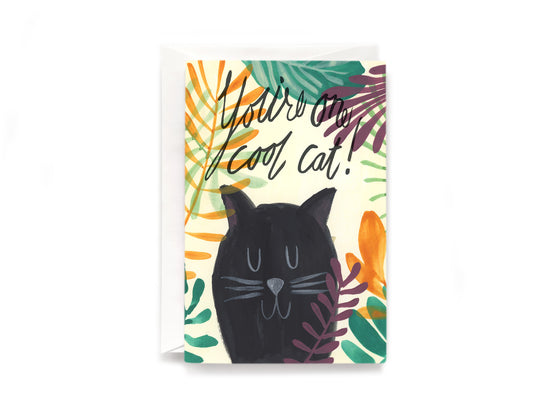Party Bunch & Co Cool cat Greeting Card