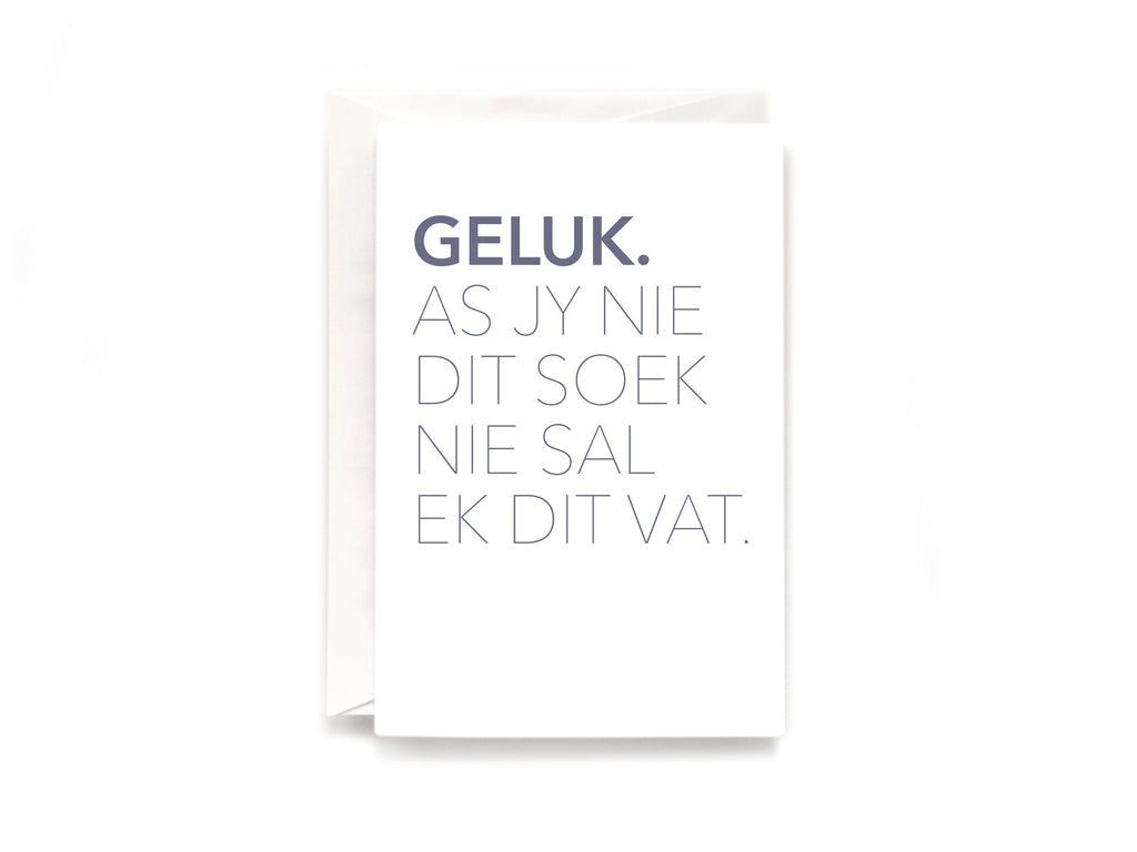 Party Bunch & Co Geluk (Afr) Greeting Card