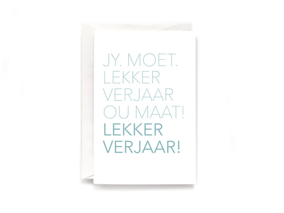 Party Bunch & Co Lekker verjaar (Afr) Greeting Card