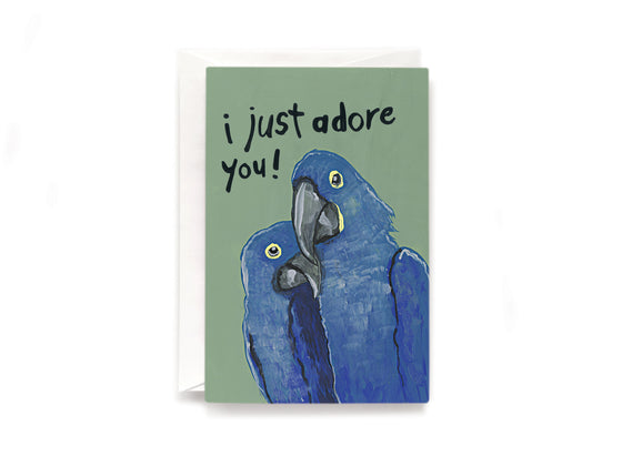 Party Bunch & Co I adore you Greeting Card