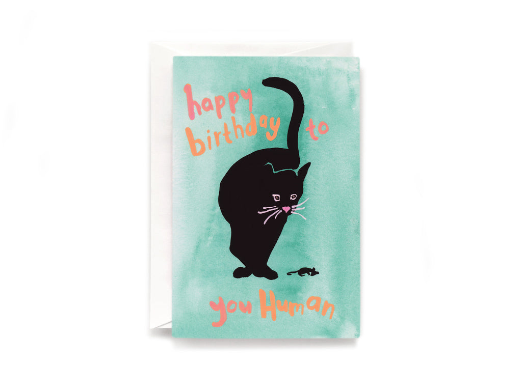 Party Bunch & Co Black cat birthday Greeting Card