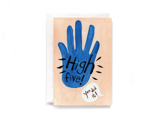 Party Bunch & Co High five (blue) Greeting Card