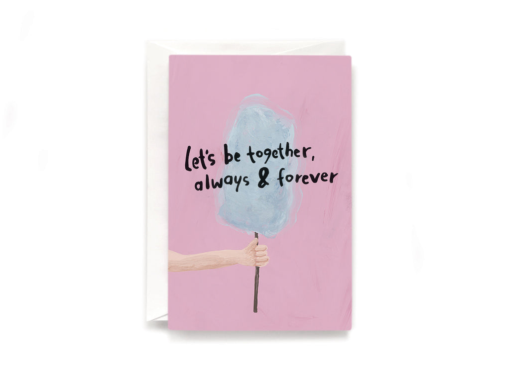Party Bunch & Co Candyfloss forever Greeting Card