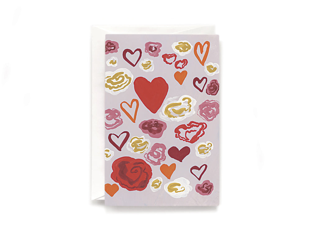 Party Bunch & Co Flower hearts Greeting Card