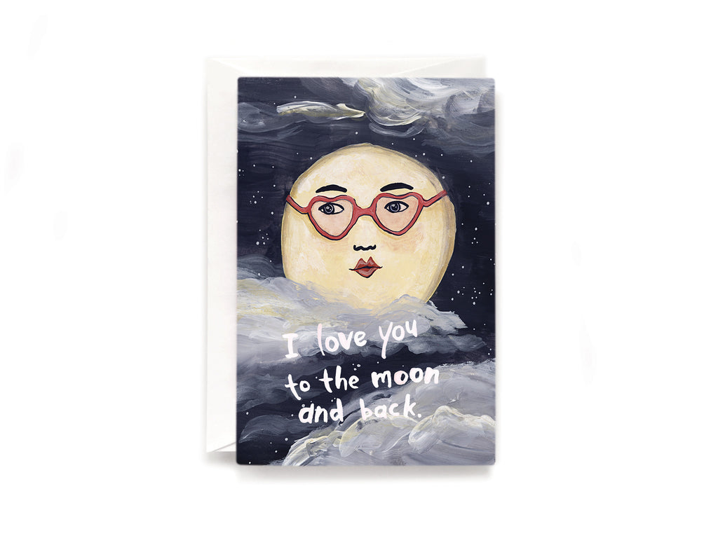 Party Bunch & Co To the moon and back Greeting Card