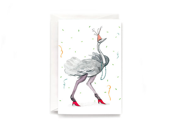 Party Bunch & Co Party bird Greeting Card