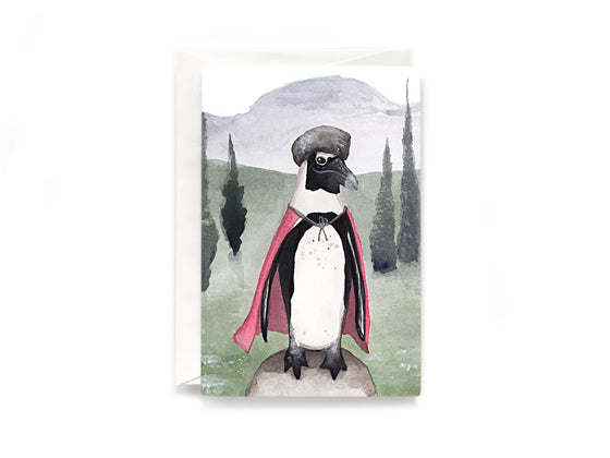Party Bunch & Co Festive penguin Greeting Card