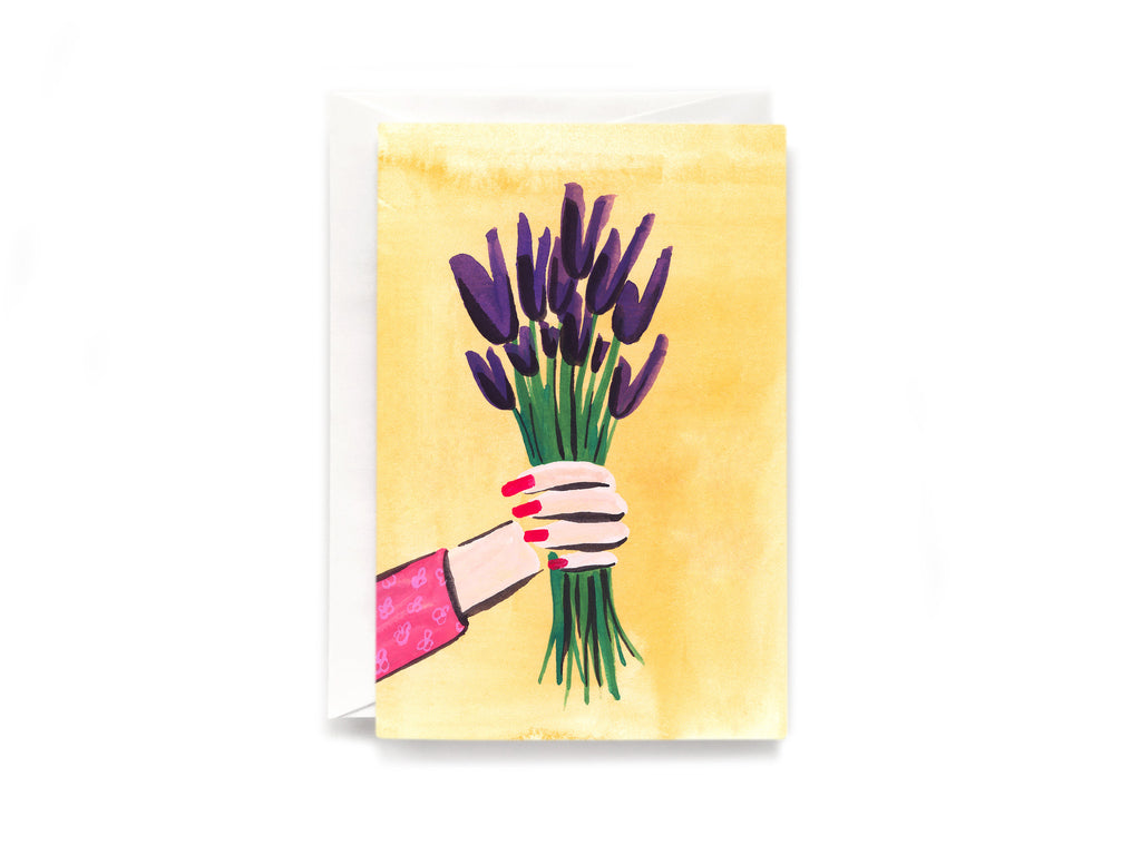 Party Bunch & Co Purple tulips Greeting Card