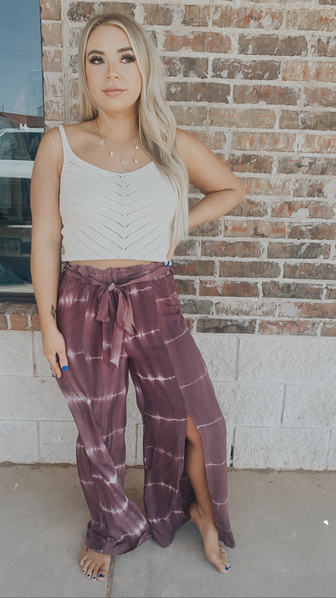 Tie Dye Flowing Pants