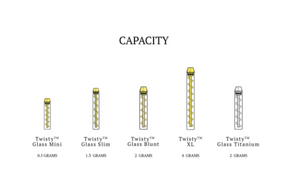 7 Pipe Twisty Glass Blunt Capacity