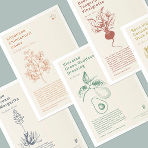 Goldleaf Recipe Cards Lifestyle