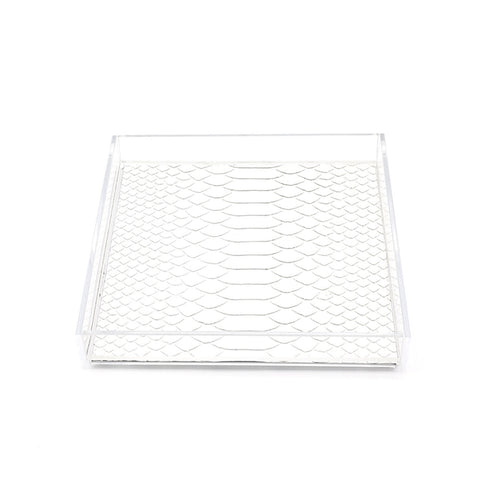 Haus Of Topper Lucite Tray Python Matte White Hero