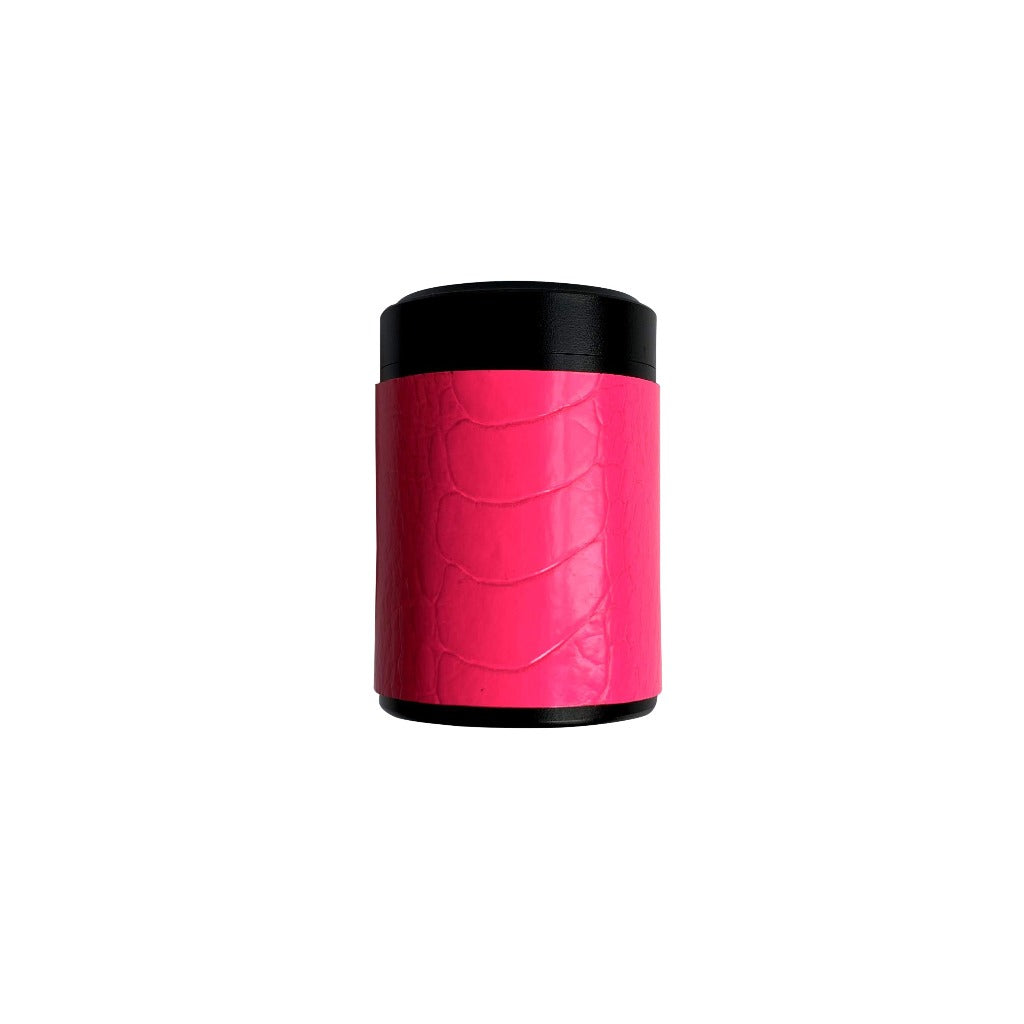 Haus of Topper Ostrich Neon Pink Stash Container Hero