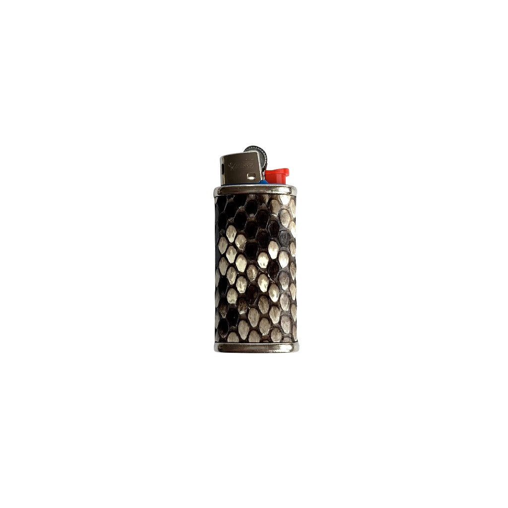 Haus of Topper Python Diamond Back Natural Lighter Case Hero