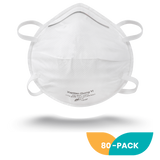 NIOSH Cup Style N95 Respirator Mask - 80 Pack