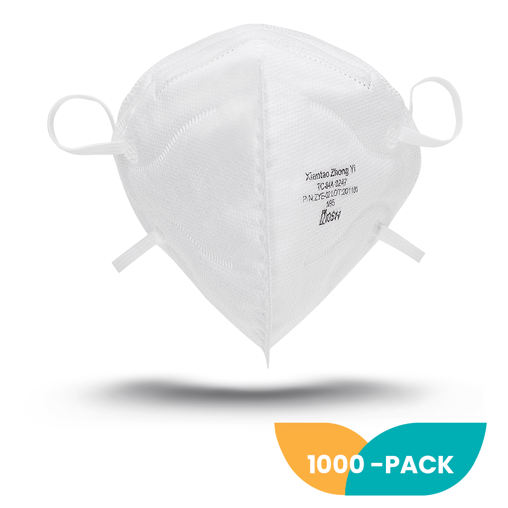 NIOSH N95 Foldable Mask - 1000 Pack