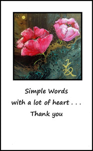 'SIMPLE WORDS . . .'