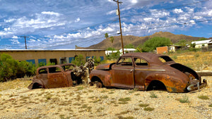 11x14 Photo Ajo classic car ruins