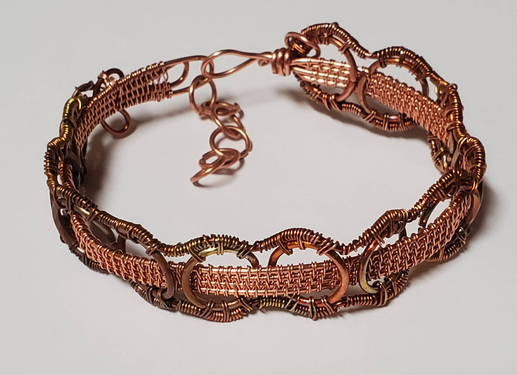Flamepainted copper bracelet
