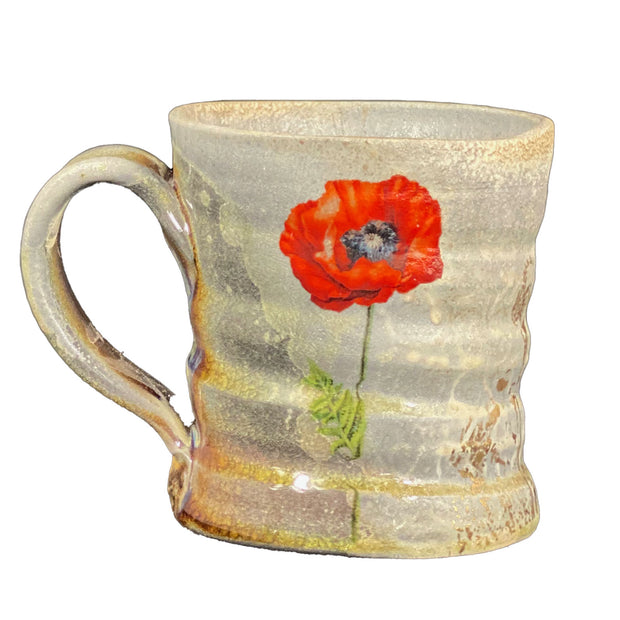 Mugs with Poppy Decals