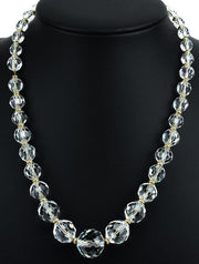 Antique Art Deco Flapper Era Crystal Necklace
