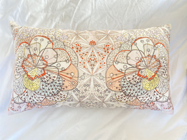 Bloomfull Journey Reversible Linen Pillow