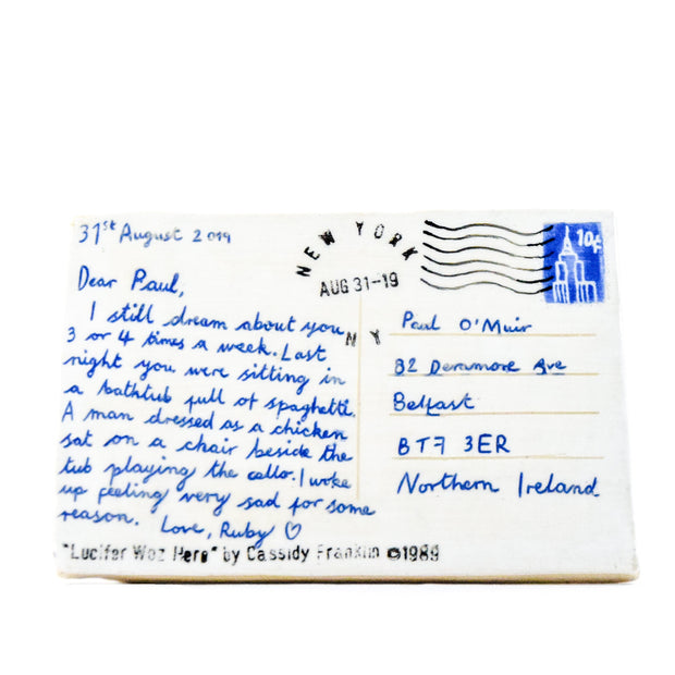 "Ceramic Postcard ""Dear Paul"""