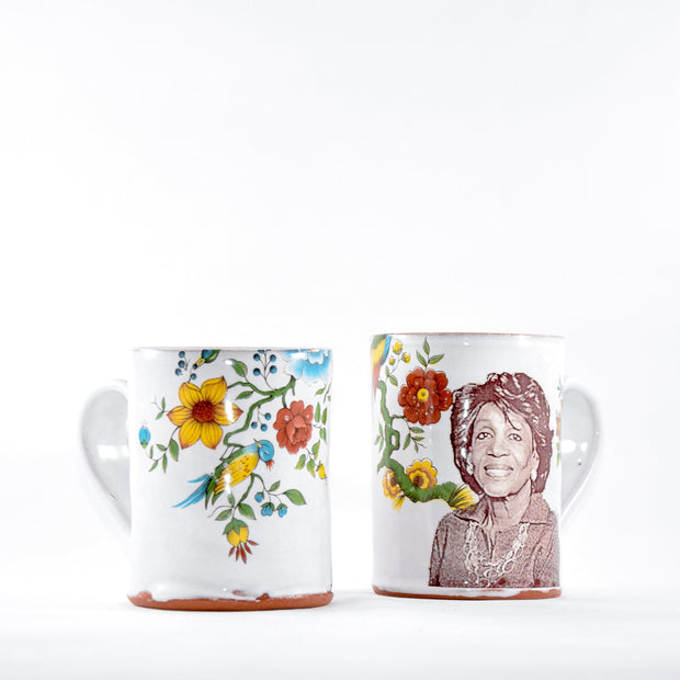 Maxine Waters Mug with Flower Decals