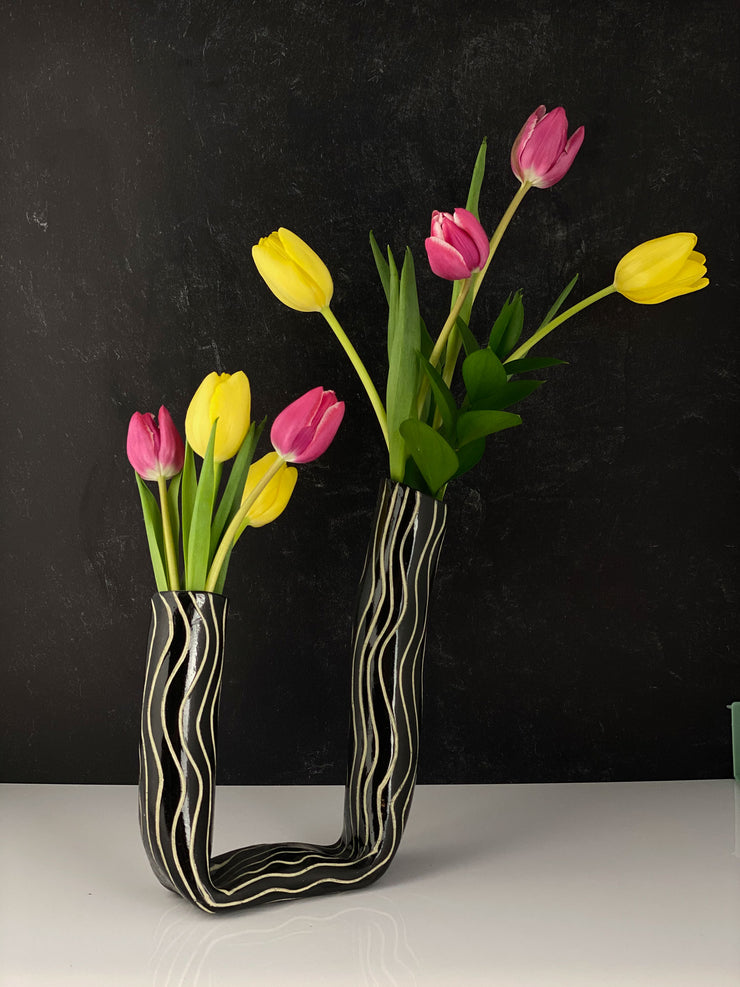 Double Tall Tube Vases