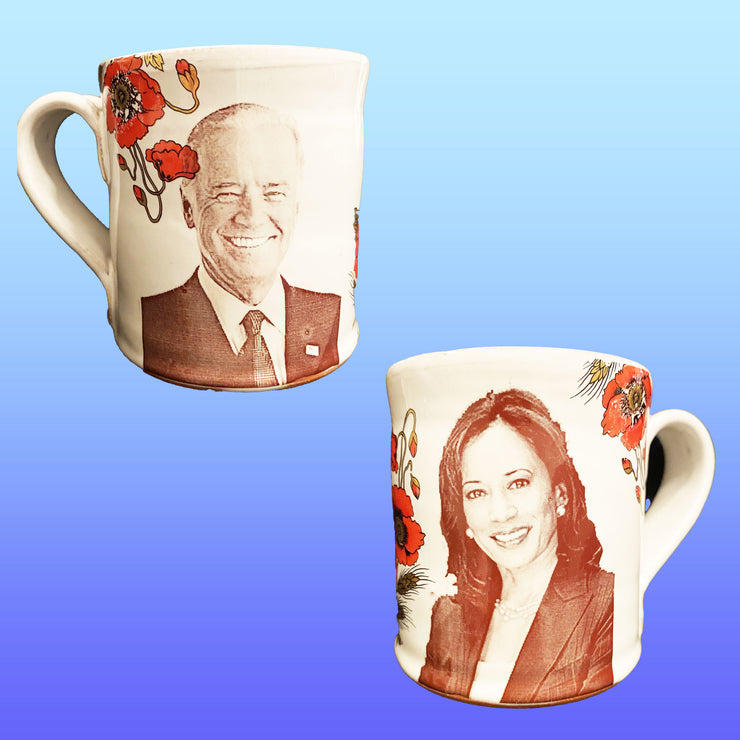 Joe & Kamala Mug with Poppies