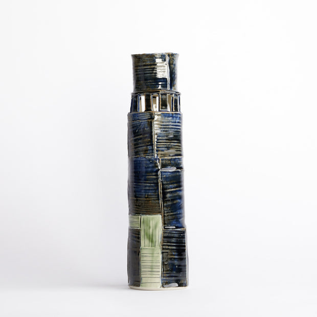 Tall stacked vase