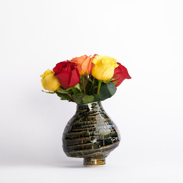 Stacked Small Potbelly Vase
