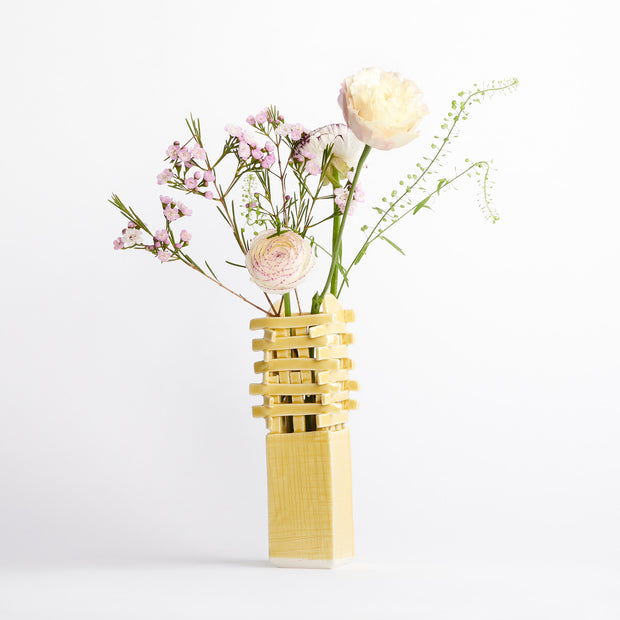 Small Scaffold Vase in Yellow