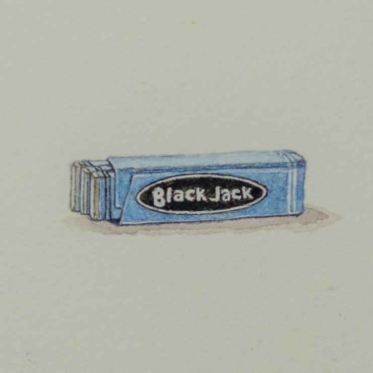 Miniature Painting of a Pack of Blackjack Gum