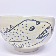 SOUP TYPE BOWL WITH 2 DRAGON-THINGS