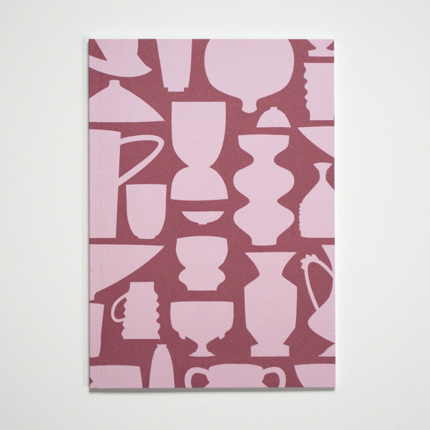 Le Pichet Notebook - Vases, Jars and Jugs with Squiggle Endpapers