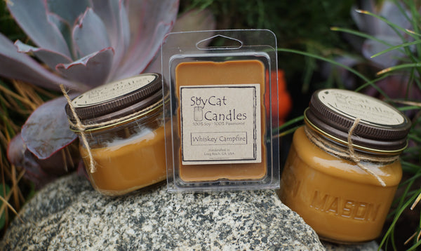 Whiskey Campfire Cat Size Candle (8oz)