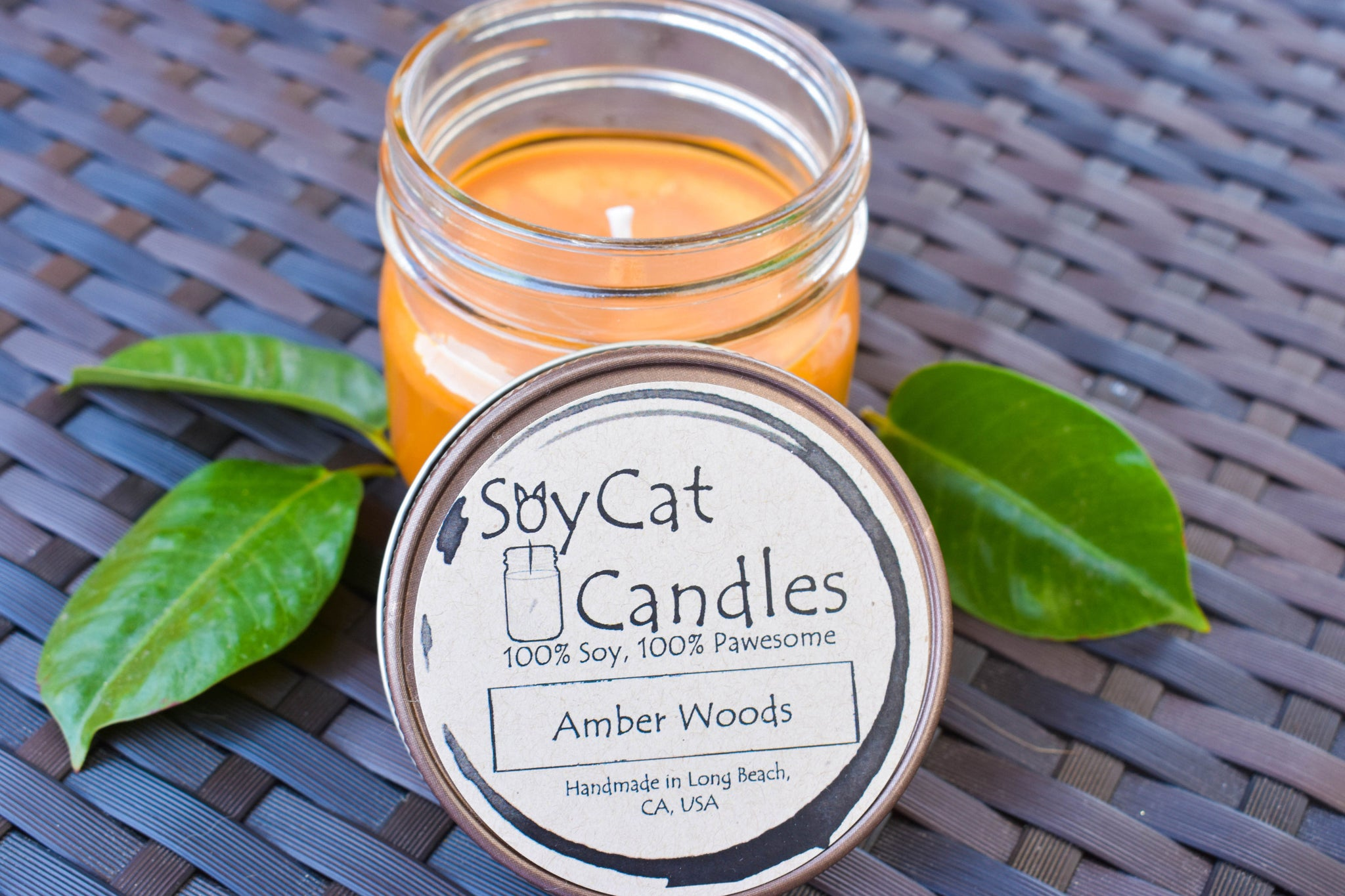 Amber Woods Kitten Size Candle (4oz)