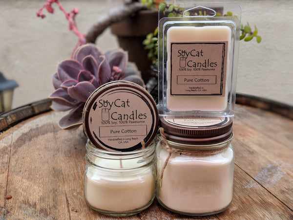 Pure Cotton Kitten Size Candle (4oz)