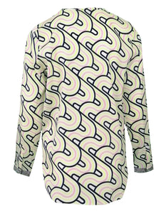 Blusenshirt Seide - Alloverprint