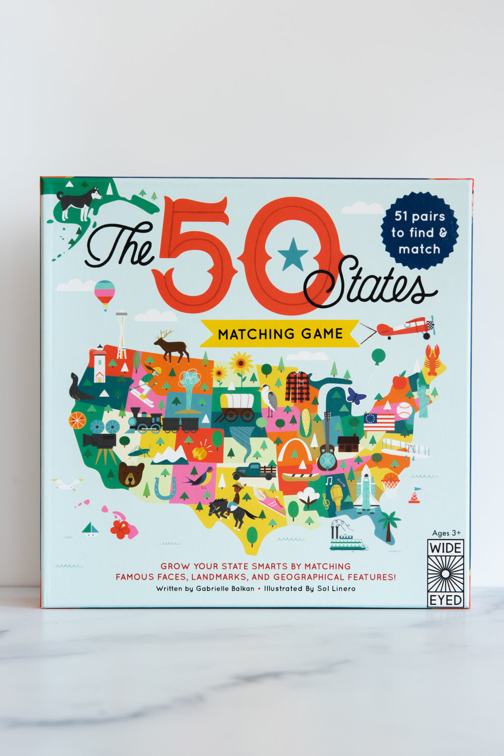 The 50 States * Matching Game