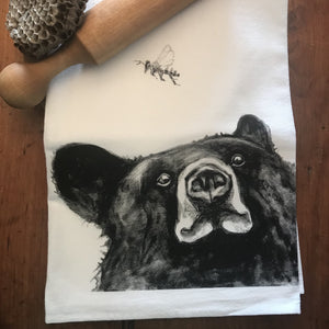 Bear & Bee Tea Towel by Jennie Blue